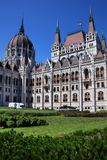 The beautiful building of Hungarian Parliament of Budapest Stock Images