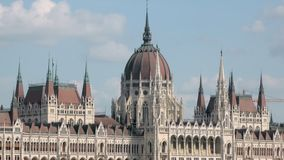 Beautiful building of Hungarian Parliament Building in Budapest, neo-gothic and beaux-arts