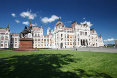 Beautiful building of Hungary - Parliament in Budapest and the s Royalty Free Stock Image