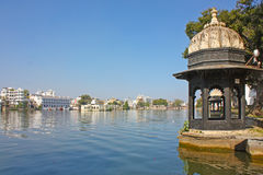 Beautiful building on the Lake in Udaipur Stock Photography