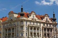 Beautiful building located down Jiraskovo Namesti in Prague Stock Photos