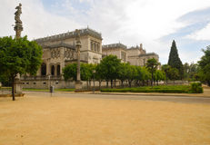 Beautiful building at Maria Luisa park Royalty Free Stock Images