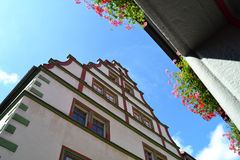 A Beautiful Building in Muehlausen, Germany. A lovely building in Muehlhausen, Germany Stock Photos