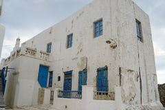 Beautiful building in Mykonos Island,Greece. Stock Photography
