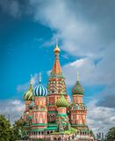 St. Basil`s Cathedral at Red square in Moscow, Russia. royalty free stock image