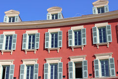 Beautiful building on the Place Massena in Nice Royalty Free Stock Image