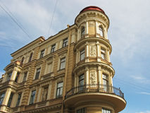 Beautiful building in Saint Petersburg. Russia. Corner of a beautiful building in St. Petersburg. Historic building Stock Photo