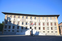 Beautiful building of University on Piazza dei Cavalieri in Pisa, Tuscany Stock Photos