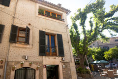 Beautiful building in Valldemossa, famous old mediterranean village of Majorca Spain. Royalty Free Stock Photography