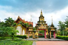 Xishuangbanna temple architecture. Beautiful buildings in ancient temples in Xishuangbanna, Yunnan, China Stock Images
