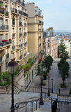 The Beautiful Buildings & Apartments of Monmatre, Paris France. Royalty Free Stock Images