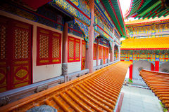 Beautiful buildings in Chinese Temple Stock Photography