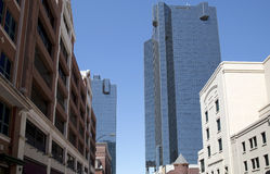 Beautiful buildings in downtown Fort Worth royalty free stock photography