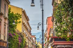 Beautiful buildings in downtown Sorrento. Campania, Italy royalty free stock photo