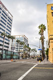 Beautiful buildings on Hollywood Boulevard the world famous Walk of Fame Royalty Free Stock Photography