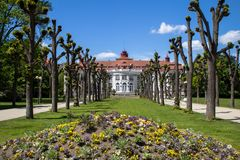 Beautiful buildings of Karlovy Vary, Czech Republic Royalty Free Stock Photography