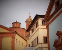 Beautiful buildings. Lovely architecture in Chincianoterme,Tuscany Royalty Free Stock Images