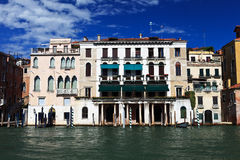 Beautiful buildings on main canal of Venice Stock Photo