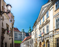 Beautiful buildings near Wawel castle in Poland. Stock Photo