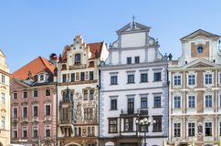 Historical buildings in old town in Prague, Czech republic Royalty Free Stock Photo