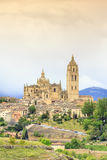 Beautiful buildings of Segovia, Spain Royalty Free Stock Image
