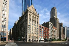 Beautiful buildings showcase the beauty of downtown Chicago. Stock Photography