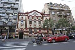 Beautiful buildings in Terazije street, Belgrade. Serbia Royalty Free Stock Photos