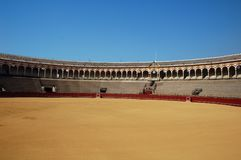 Beautiful bullfight arena in S royalty free stock photos