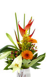 Beautiful bunch of flowers in a vase Royalty Free Stock Photography
