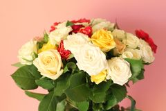 A beautiful bunch of roses Stock Images