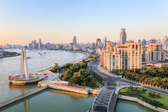 Beautiful the bund in morning Royalty Free Stock Photos