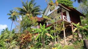 Beautiful bungalow amongst palm trees on the Koh Wai island, Thailand Royalty Free Stock Photos