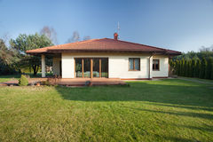 Beautiful bungalow with garden. Beautiful parter bungalow with big garden Royalty Free Stock Photography