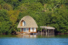 Beautiful bungalow over the sea Stock Images