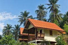 Beautiful bungalow resort in jungle, Koh Chang, Thailand Royalty Free Stock Photography