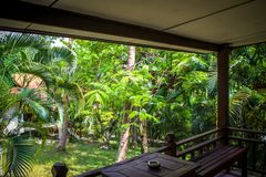 Beautiful bungalow resort in jungle, Koh Samui, Royalty Free Stock Image