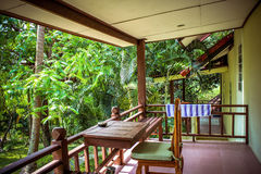 Beautiful bungalow resort in jungle, Koh Samui, Royalty Free Stock Images