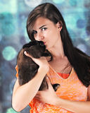Beautiful Bunny Lover Stock Images