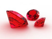 The beautiful burgundy garnets Royalty Free Stock Images