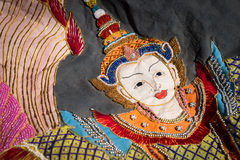 Beautiful Burmese cloth embroidery Stock Image