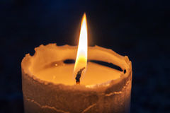 Beautiful burning candle Royalty Free Stock Images