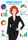 Beautiful business analyst woman Stock Photo