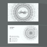 Beautiful business card design. Royalty Free Stock Photo