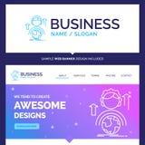 Beautiful Business Concept Brand Name abilities, development, Fe stock illustration