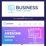 Beautiful Business Concept Brand Name ad, advertisement, adverti stock illustration
