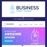 Beautiful Business Concept Brand Name Algorithm, brain, conclusi vector illustration