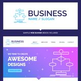 Beautiful Business Concept Brand Name Algorithm, chart, data, di royalty free illustration