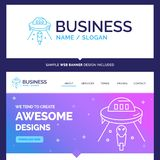 Beautiful Business Concept Brand Name alien, space, ufo, spacesh royalty free illustration