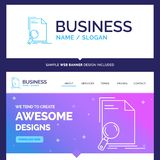 Beautiful Business Concept Brand Name Analysis, document, file stock illustration