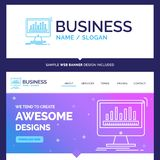Beautiful Business Concept Brand Name analytics, processing, das royalty free illustration
